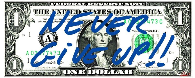 DOLLAR NEVER GIVE UP BLEU SITE INTERNET